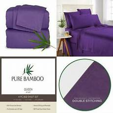 pure bamboo sheets queen size bed 4 pc 100 queen