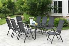 salon jardin aluminium table de jardin 10 personnes 8 chaises en aluminium
