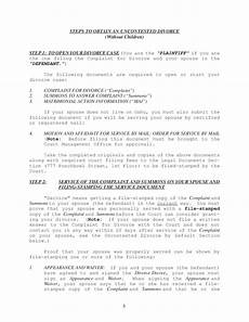 instructions uncontested divorce packet no children hawaii free download