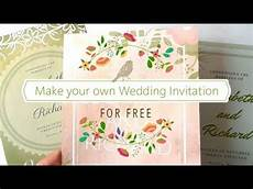How To Make Your Own Wedding Invitations Free