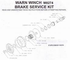dna knowledge base warn m8274 high brake service kit fitting instructions
