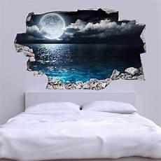 3d Vinyl Wandsticker Mond Erde Adesivi Murali