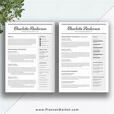 unique resume template 3 page cv template word