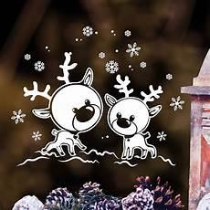Fensterbilder Weihnachten Vorlagen Rentier Wandtattoo Loft Fensterbild Elche Rentiere Im Schnee