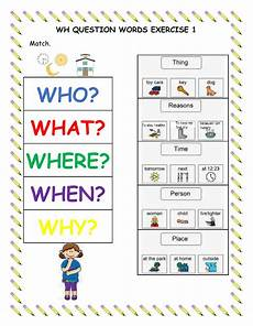 wh question words exercise 1 interactive worksheet