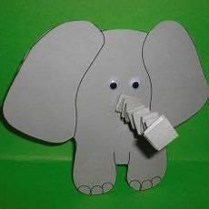 Elefant Vorlage Ausschneiden - elefanten basteln basteln kindern tiger crafts animal