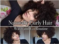 naturally curly hair wash and go routine youtube