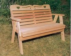 cedar american sweetheart garden bench