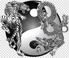tiger and yin yang yin and yang