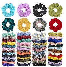 52 pcs hair scrunchies velvet chiffon satin for 4 99 shipped