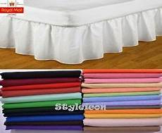 luxury extra deep poly cotton fitted valance sheet soft fabric super king size ebay