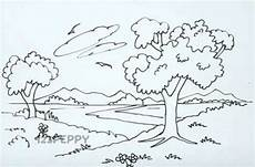 easy nature coloring pages 16364 how to draw nature tutorial 123peppy how to draw nature drawings with images