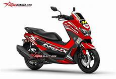 Nmax Modif Stiker by Modifikasi Nmax Grey Fresh Motoblast