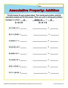 associative property of addition 3rd grade worksheet 2nd grade addition worksheets school