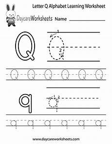 free letter q alphabet learning worksheet for preschool อ งกฤษ