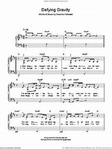 cast defying gravity sheet music for piano solo pdf