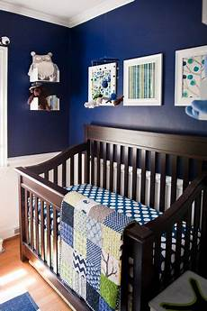 Eclectic Navy Nursery Interior Style Furnished With