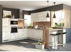 Küchen L Form - einbauk 252 che in l form holz und hochglanz 283200262 4