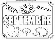 Mois De Septembre 224 Colorier 224 Gommettes Mois Saisons