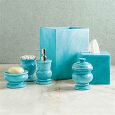 Badezimmer Accessoires Blau - sky blue marble bath accessories gump s