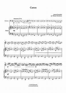 piano sheet music canon in d major easy level with