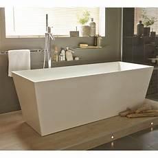 de baignoire baignoire 238 lot rectangulaire l 159x l 65 cm blanc brillant