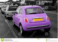 Modern Small Purple Fiat 500 Stock Image Image Of