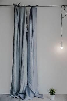 vorhang grau blau bluish grey washed linen curtains linen drapes in bluish