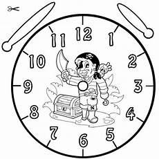 Kinder Malvorlagen Uhr Kostenlose Malvorlage Uhrzeit Lernen Ausmalbild Pirat Zum