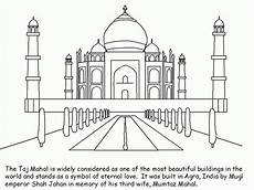 places coloring pages 18026 collection of landmarks around the world landmarks taj mahal