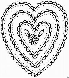 Gratis Malvorlagen Herzen Herzen Mit Blume Ausmalbild Malvorlage Gemischt