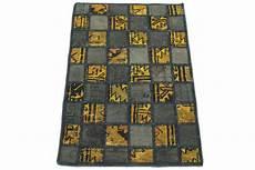 teppich gelb grau patchwork teppich grau gelb in 90x60 1001 167108 bei