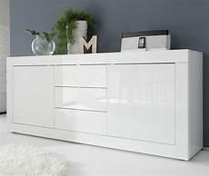 buffet bahut design laque blanc brillant focus zd1 bah d