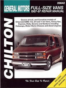 free car manuals to download 1997 chevrolet express 2500 on board diagnostic system chevy gmc rally savana express vandura repair manual 1987 1997