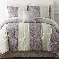 home expressions full size reversible bedding purple ivory new jcpenney bedding