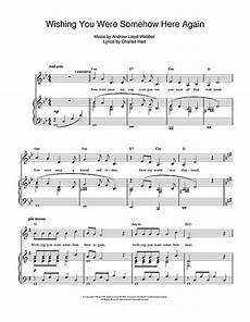 wishing you were somehow here again from the phantom of the opera by andrew lloyd webber piano