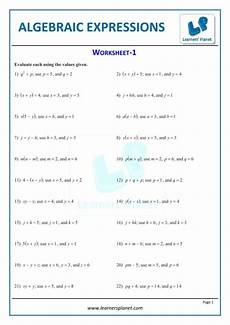 printable worksheets algebraic expressions 7th cbse math study grade algebra igcse with grade 7
