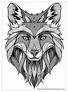 malvorlagen wolf mandala hohe qualit 228 t wolf mandala