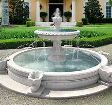 circle in driveway water fountains outdoor