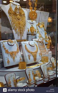 gold souk display dubai united arab emirates