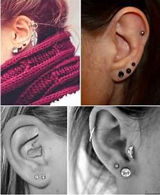 piercing oreille gauche 3 trou 224 la lobe j en ai