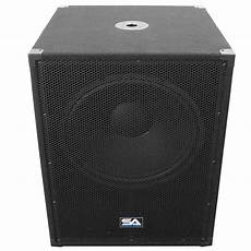 pa powered subwoofers pair of seismic audio 18 quot pa powered subwoofer active speakers 800 watts each ebay