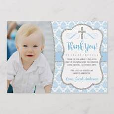 thank you card template for baptism baptism cards zazzle