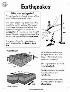 movement of the earth s crust worksheets 14432 earthquakes 6pg disasters worksheets