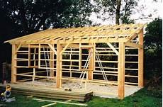 construction d une remise en bois comment faire une charpente en bois 1 pente beau