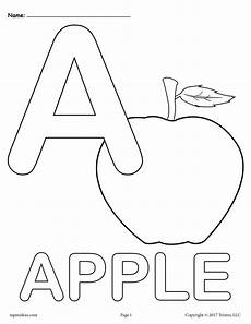 letter a alphabet coloring pages 3 free printable