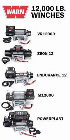 the lineup of 12 000 lb capacity warn winches which one is right for your rig love cars