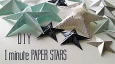 basteln weihnachten sterne diy one minute paper ornaments