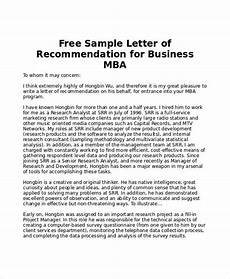 sle mba recommendation letter 6 exles in word pdf reference letter college recommendation