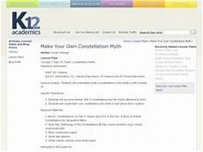 make your own constellation myth 5th grade lesson plan lesson planet